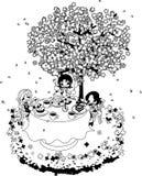 Koffie van Cherry Blossom vector illustratie
