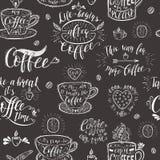 Koffie van letters voorziende banner voor restaurant en bar Stock Afbeeldingen