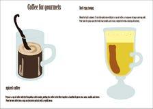 Koffie voor gourmets Stock Foto