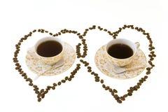 Koffie voor paar Stock Fotografie
