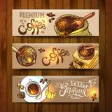 koffie voor uw ontwerp Stock Foto's