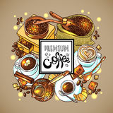 koffie voor uw ontwerp Royalty-vrije Stock Foto's