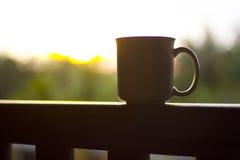 Koffie voor zonsopgang Royalty-vrije Stock Fotografie