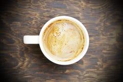 Koffie in witte kop Royalty-vrije Stock Afbeeldingen