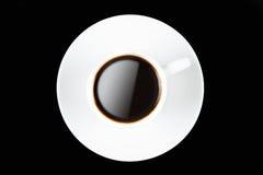 De kop van de koffie op zwarte Stock Fotografie