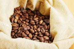 Koffie in zak Royalty-vrije Stock Afbeeldingen