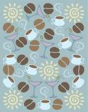 Koffieachtergrond Royalty-vrije Stock Foto's