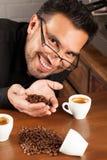 Koffieadiction Royalty-vrije Stock Foto