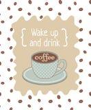 Koffieaffiche Stock Foto