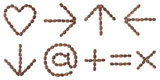 Koffiealfabet. Stock Fotografie
