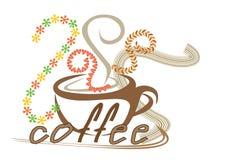 Koffieart. vector illustratie