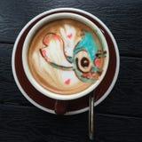 Koffieart. Stock Foto's