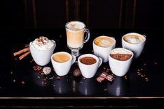 Koffieassortiment Royalty-vrije Stock Foto