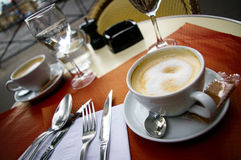 Koffieau Lait Royalty-vrije Stock Foto