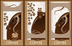 Koffiebanner Stock Foto