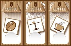 Koffiebanner Stock Afbeeldingen
