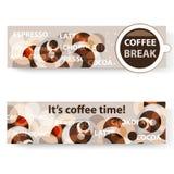Koffiebanners Stock Afbeeldingen