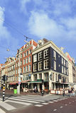 Koffiebar Karpershoek, de oudste bar in Amsterdam. Stock Afbeeldingen