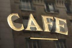 Koffiebar in Parijs Stock Afbeelding