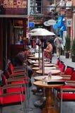 Koffiebar in Tianzifang, Shanghai China Royalty-vrije Stock Afbeelding