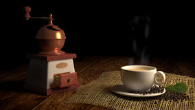 Koffiebehang Stock Afbeelding
