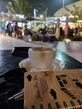 Koffiebesprekingen stock afbeelding