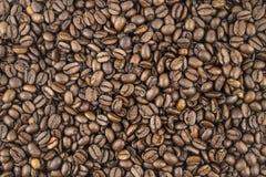 Koffiebonen, achtergrond, textuur stock afbeelding