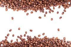 Koffiebonen als achtergrond royalty-vrije stock afbeelding
