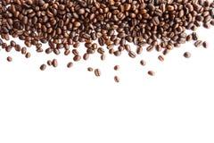 Koffiebonen bij grens Stock Foto
