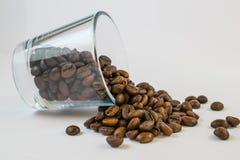 Koffiebonen in een kruik Royalty-vrije Stock Foto
