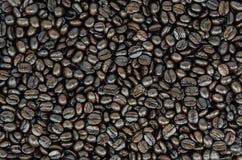 Koffiebonen op achtergrond Stock Fotografie