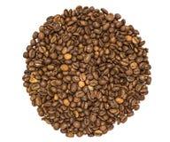 Koffiebonen op een witte achtergrond Royalty-vrije Stock Afbeeldingen