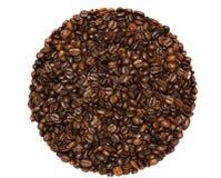 Koffiebonen op een witte achtergrond Stock Foto's