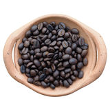 Koffieboon in Claypot royalty-vrije stock foto's