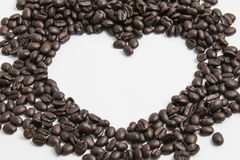 Koffieboon in hartvorm Royalty-vrije Stock Foto