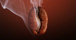 Koffieboon op diepe achtergrond stock fotografie