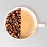 Koffiedelen royalty-vrije stock foto's