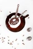 Koffiedessert met een chocolade Stock Afbeelding