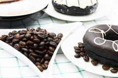Koffiedoughnut Stock Afbeelding