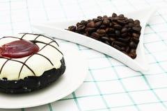 Koffiedoughnut Stock Foto's