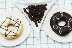 Koffiedoughnut Royalty-vrije Stock Afbeelding
