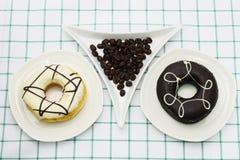Koffiedoughnut Stock Afbeeldingen