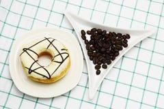 Koffiedoughnut Royalty-vrije Stock Foto