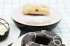 Koffiedoughnut Stock Fotografie