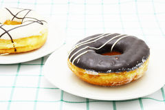 Koffiedoughnut Royalty-vrije Stock Foto's