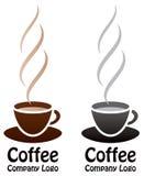 Koffieembleem stock illustratie