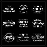 Koffieemblemen Royalty-vrije Stock Foto's