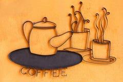 Koffieetiket Stock Foto's