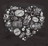 Koffieetiketten Royalty-vrije Stock Afbeeldingen