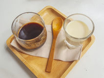 Koffiegelei Stock Foto